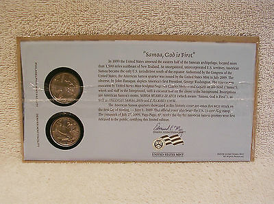 2009 American Samoa  First Day Cover - Sealed Cello P & D Mint State Quarter WB4