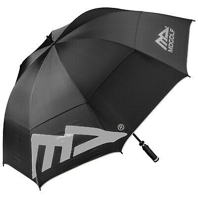 "MD Golf Large 68"" Double Canopy Umbrella New Lightweight Tour Storm Windbuster"
