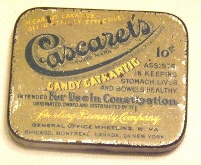 Rare Vtg. Cascaret's Candy Gathartic Tin Keeps Stomach Liver & Bowels Healthy
