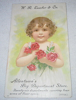 1865-1902 Advertising Card W. R. Lawfer & Co. Big Department Store Allentown PA.