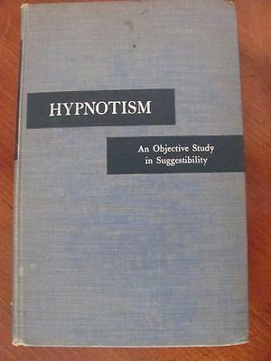 Hypnotism By Andre Weitzenhoffer Objective Study In Suggestibilty 1953 Book