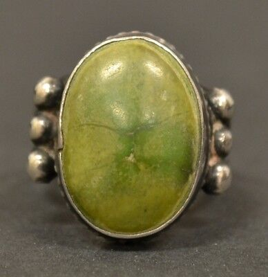 Vintage Native American Old Pawn Sterling Silver Turquoise Size 7 Ring