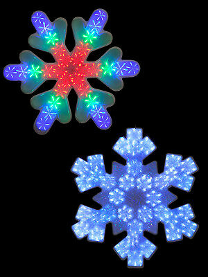 47cm LED Snowflake Silhouette Hanging Christmas Decoration Window Light Up