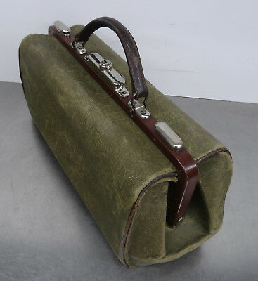 antique doctor's bag - Antike Hebamme Koffertasche Koffer Arzt Segeltuch Tasche