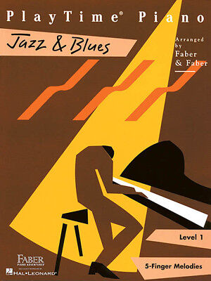 PLAYTIME PIANO JAZZ & Blues Level 1 Beginner Sheet Music 12 Songs Faber  Book NEW