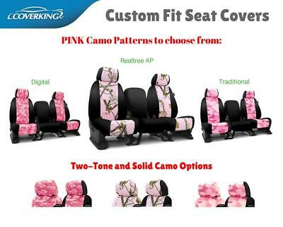 PINK CAMO CUSTOM FIT SEAT COVERS - COVERKING for NISSAN LEAF