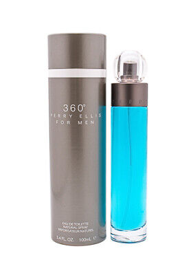360 by Perry Ellis 3.4 oz EDT Cologne for Men New In Box