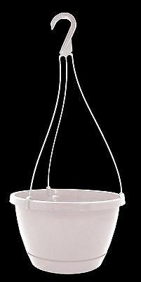 10 in White Plastic Hanging Baskets w/ Saucers - Plants Patio Garden - Qty 50