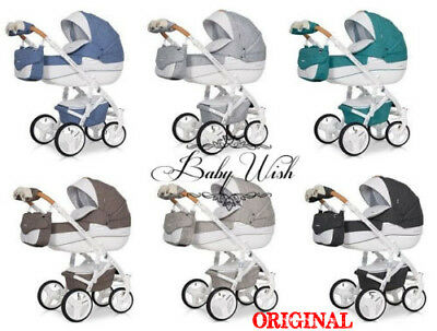 RIKO BRANO LUXE PRAM 3in1 FREE CUP HOLDER + EXTRAS