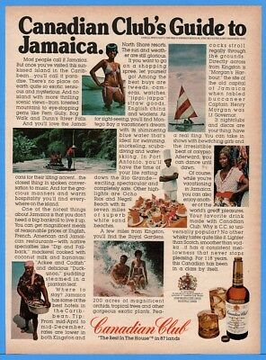 1976 Canadian Club Whiskey CC Guide To Jamaica Bikini African American Black Ad