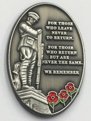 Military Verse Poppy Pin Badge Remembrance Day Donation to Veteran Charities