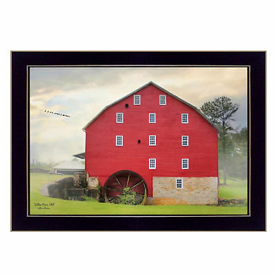 """""""Willow Grove Mill"""" By Lori Deiter, Printed Wall Art, Ready To Hang Framed"""