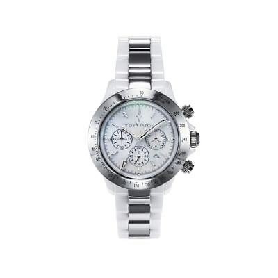 ToyWatch Heavy Metal Ceramic White and Silver CHMC06WHSL