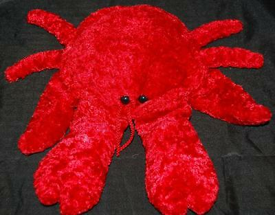 Crawfish Lobster Red Hand Puppet CalToy Stuffed Animal Lovey Large Claws