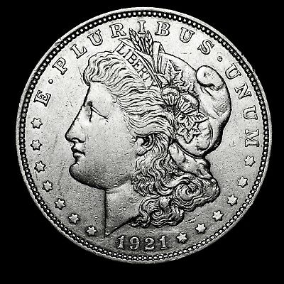 1921 D ~**ABOUT UNCIRCULATED AU**~ Silver Morgan Dollar Rare US Old Coin! #433