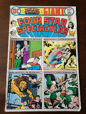 Four Star Spectacular # 1 Vg Dc Comics Superboy Wonder Woman Golden Age Flash