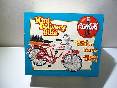 Nib 1998 Coca Cola Die Cast Mini Delivery Bike Authentic Detailing #05598