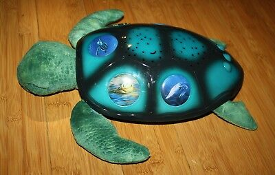 """Green Cloud B Sea Turtle Constellation Night Light W Sea Life Pictures 15"""" works"""