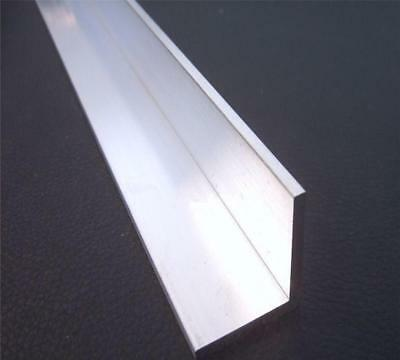 "US Stock 2pcs 25mm x 50mm x 250mm(9.84"") Long 3mm Thick 6063 T5 Aluminum Angle"