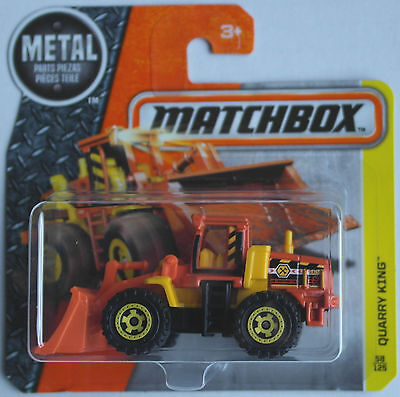 Matchbox - Quarry King Radlader orange/gelb Neu/OVP