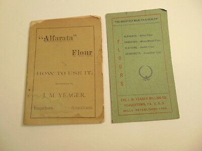 2 vintage J.M. Yeager Milling Co. flour booklets: Yeagertown, PA