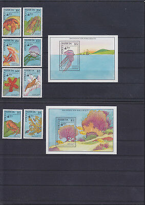 055914 Fische Fish ... Antigua & Barbuda 1320-27 + Block 173/74 ** MNH Year 1990