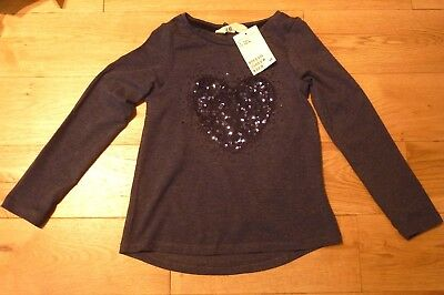 H&M Girls Long Sleeve Jersey top with Appliqués 4-6 Years BNWT RRP £10.98 Blue