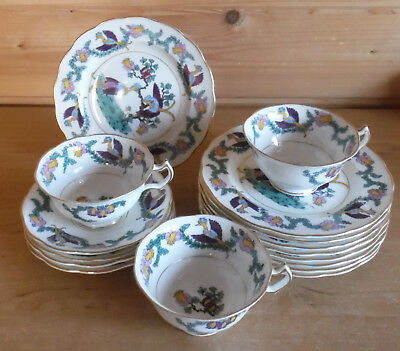 Crescent & Sons (George Jones) 3 Cups,4 Saucers,9 Side Plates Antique Job Lot