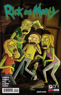 Oni Press Rick and Morty Comic Book #2 2015 4th Print Variant Zombie Cover - NM
