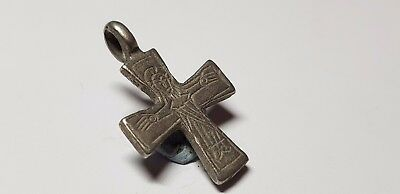 BYZANTINE   SILVER  CROSS-   10th ,13en Century AD