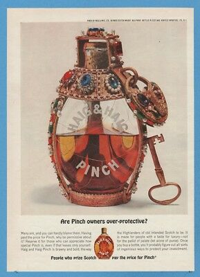1962 Haig Scotch Whisky Jeweled Bottle  ~ Are Pinch Owners Over-Protective Ad