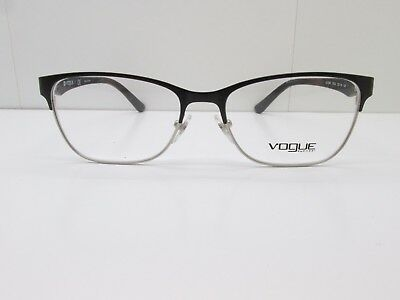 6856160f8e Vogue VO 3940 352-S EYEGLASSES FRAMES 52-16-140 Black Silver Rectangle