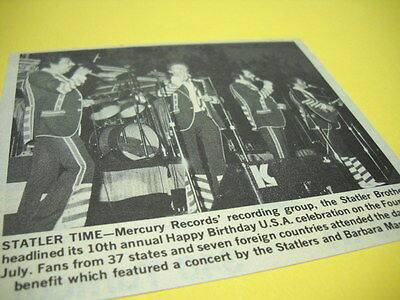 STATLER BROTHERS at Happy Birthday USA show 1979 music biz promo image with text