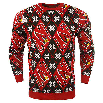 NFL UGLY ARIZONA CARDINALS Sweater Pullover Christmas Candy Cane Football
