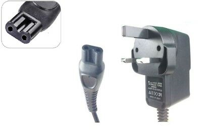 UK CHARGER POWER LEAD CORD FOR PHILIPS ONE BLADE TRIMMER ( Small B Connector )