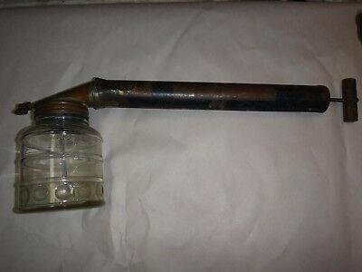 Antique Hudson Bug Sprayer With Original Jar