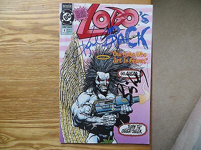 1992 Vintage Dc Lobo's Back # 4 Signed 2X Simon Bisley & Keith Giffen, With Poa