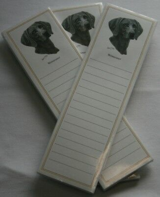 Weimaraner Dog Magnetic NOTEPAD Note List Pads - SET of 3