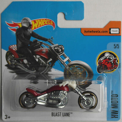 Hot Wheels - Blast Lane Chopper rotmet. Neu/OVP Motorrad