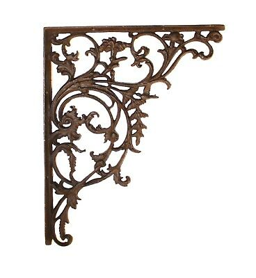 "Cast Iron Wall Bracket Large 15"" Leaf Victorian Style - The Kings Bay"