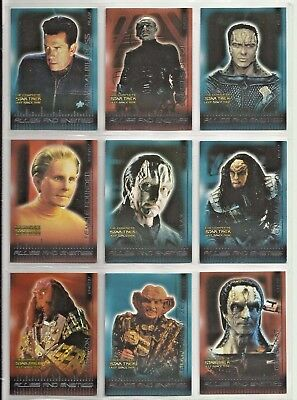 Complete Deep Space Nine     Ds 9   Allies & Foes  27 Card Chase Set  B1 To B27