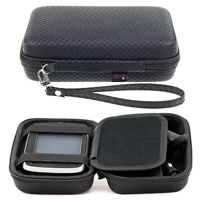 Black Hard Carry Case For TomTom Go 5100 Go 510 5'' GPS Sat Nav With Storage