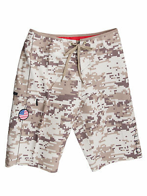 O'Neill GI Jack Patriotic Hyperfreak Boardshorts with American Flag Patch