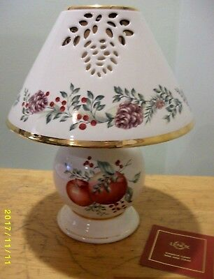 Lenox Williamsburg Candle Lamp Holiday Design Boxwood & Pine
