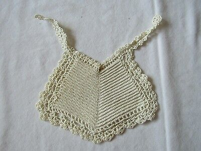 Vintage Antique? Crocheted Neutral Boy Girl Baby Bib