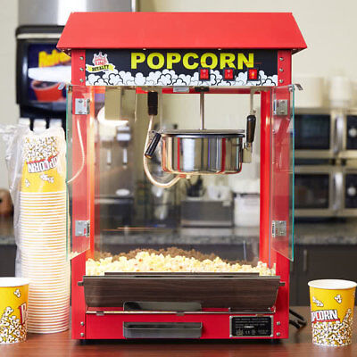 Carnival King PM30R Royalty Series 8 oz Red Commercial Popcorn Machine 120 V