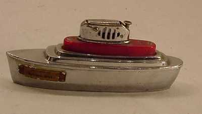 Fabulous Vintage Occupied Japan Detroit Souvenir Boat Lighter