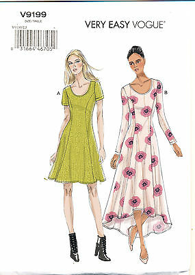 Vogue Sewing Pattern 9199 Misses 14-22 Easy Flared Princess Seam Dress & Maxi