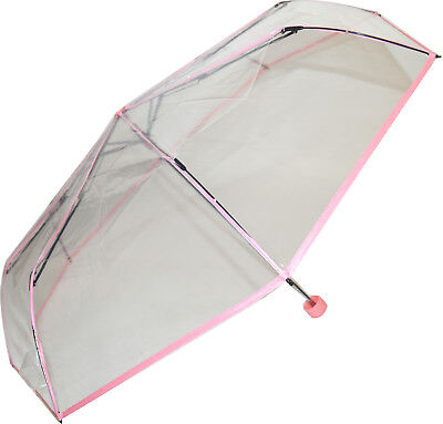 Soake Clear Folding Umbrella - Pale Pink
