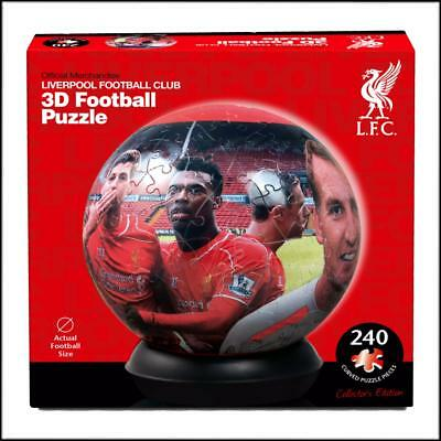 OFFICIAL LIVERPOOL FOOTBALL CLUB 3D JIGSAW PUZZLE - 240pc - FULL FOOTBALL SIZE